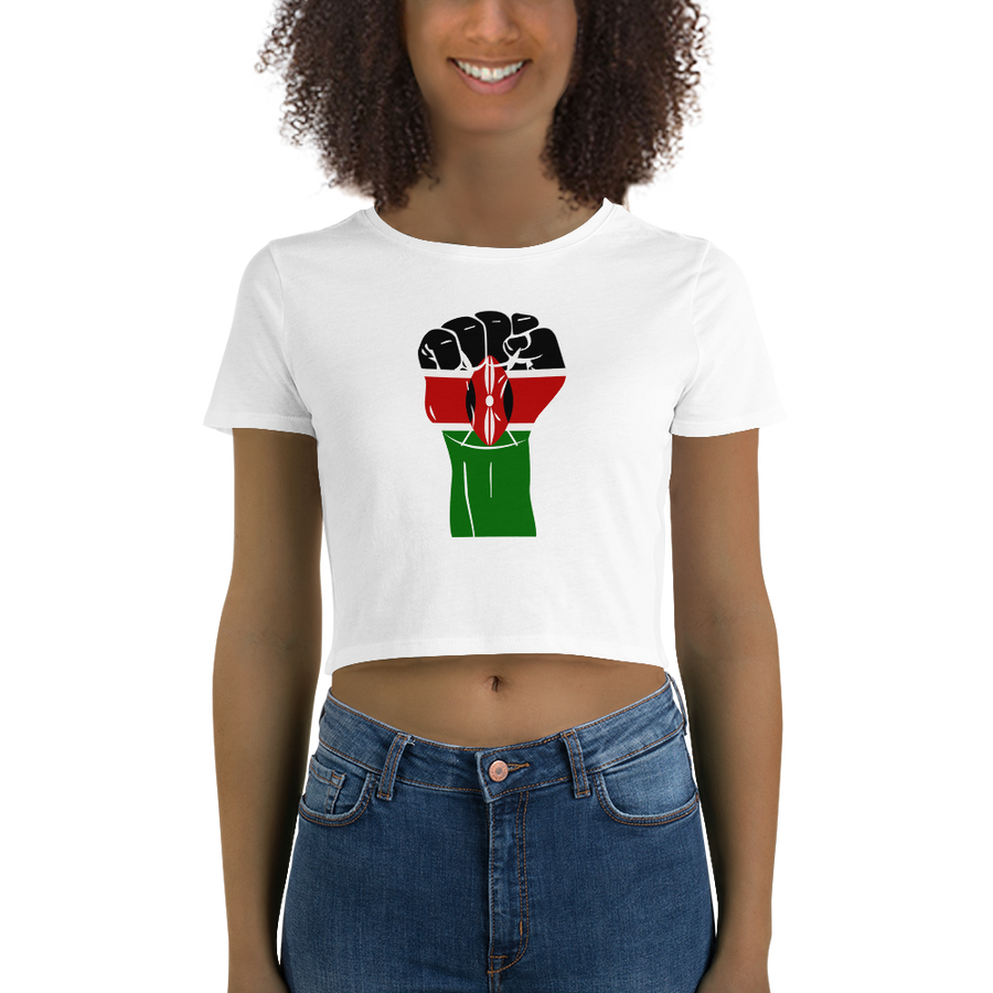 RAISED FIST 'KENYA' — Women's Crop Tee