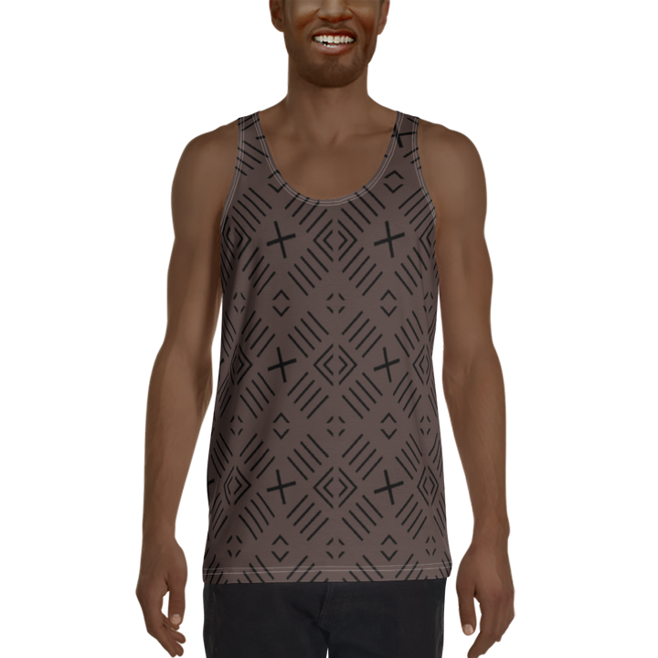 BÒGÒLANFINI 'FILA' (COCOA/BLACK) — Hand-sewn Men's Tank Top