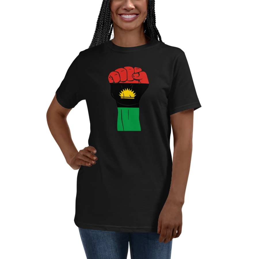 RAISED FIST 'BIAFRA' — Women's Organic T-shirt