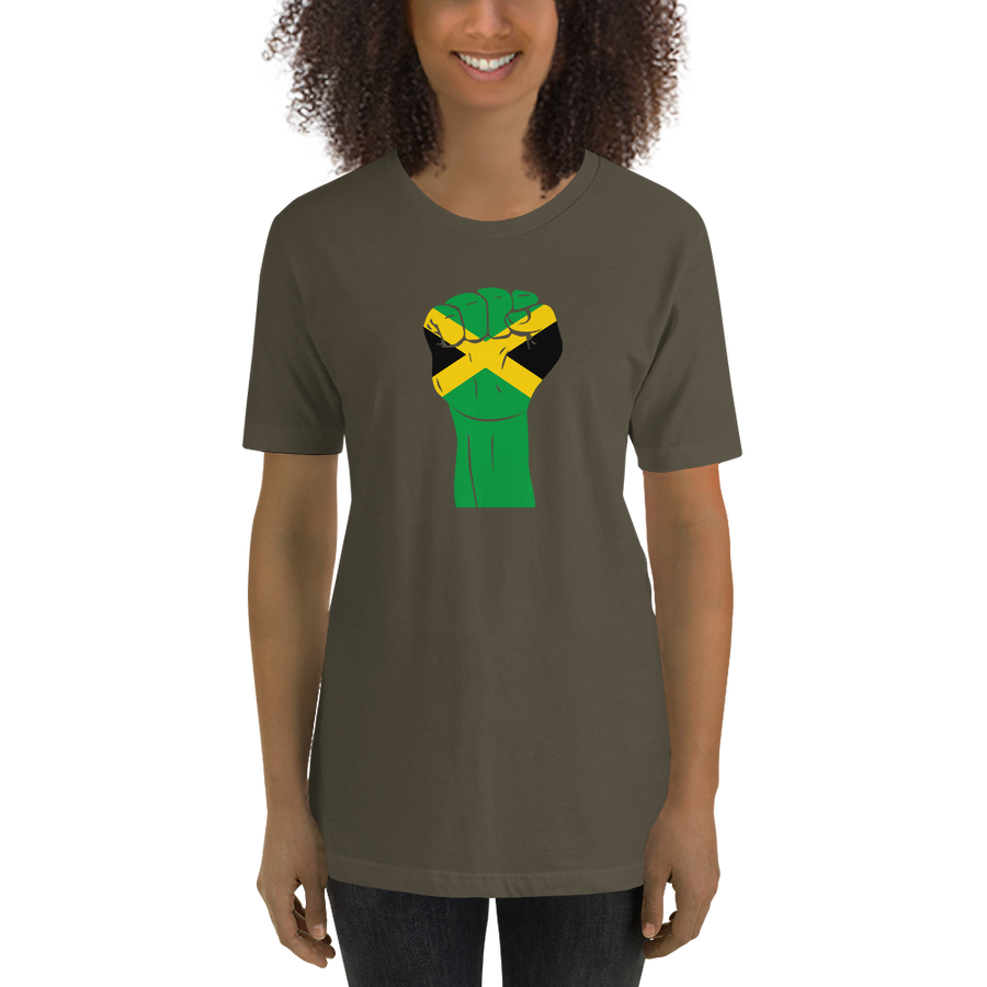 RAISED FIST 'JAMAICA' — Women's Premium T-shirt
