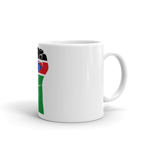 RAISED FIST 'SOUTH SUDAN' — Coffee Mug