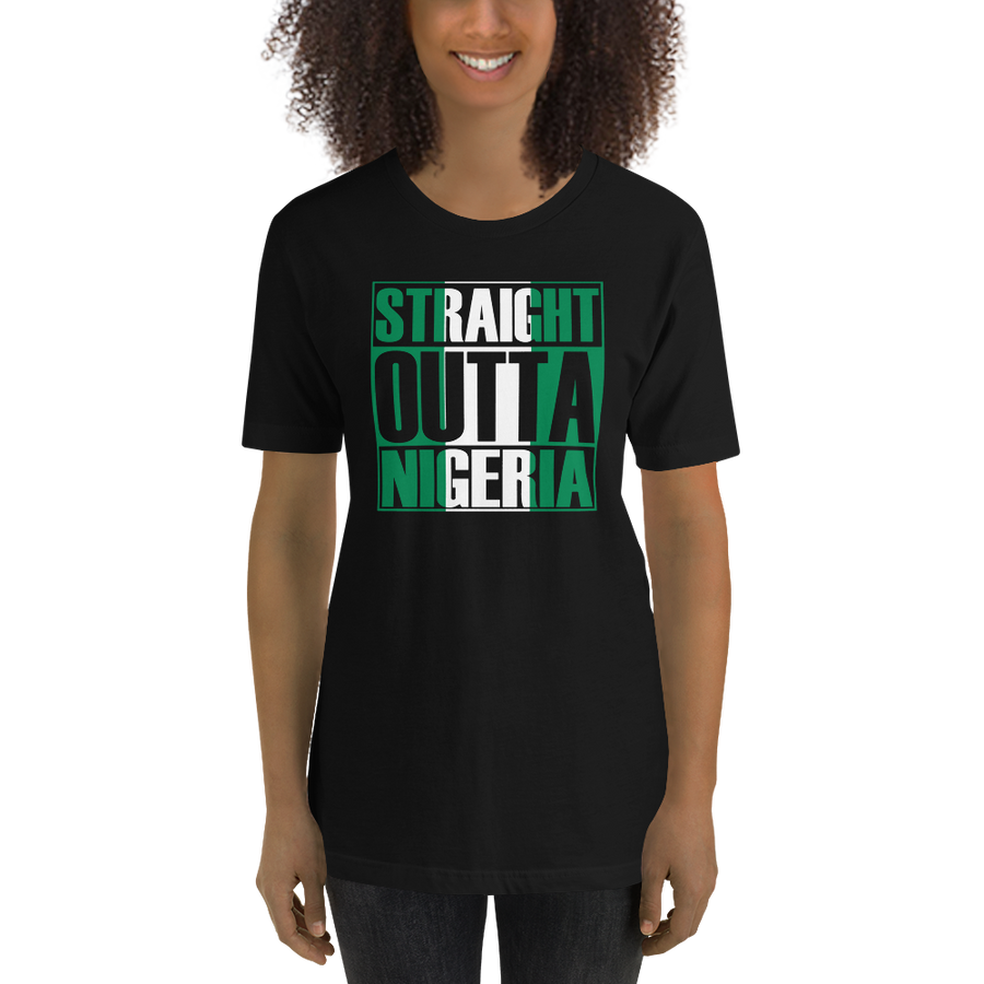 STRAIGHT OUTTA NIGERIA — Women's Premium T-shirt