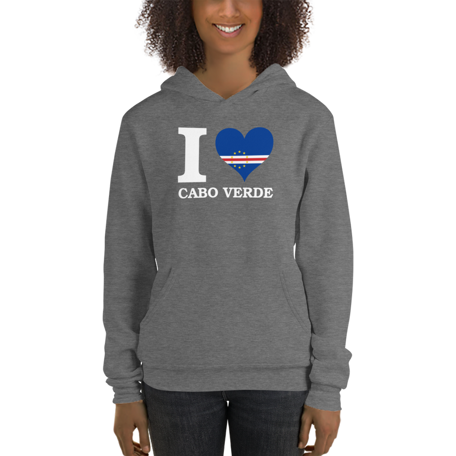 I ❤ CABO VERDE (WHITE) — Women's Pullover Hoodie