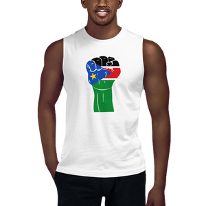 RAISED FIST 'SOUTH SUDAN' — Men's Muscle Shirt