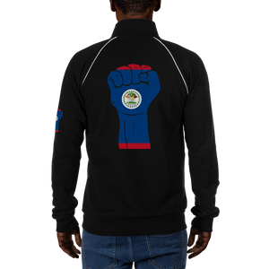 RAISED FIST 'BELIZE' — Men's Piped Fleece Jacket