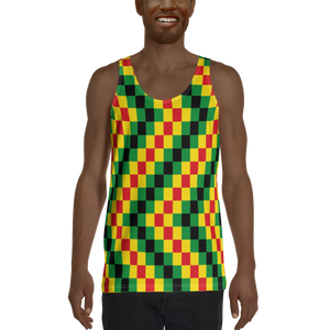 EWE KENTE 'EWO' (RASTA/BLACK) — Hand-sewn Men's Tank Top