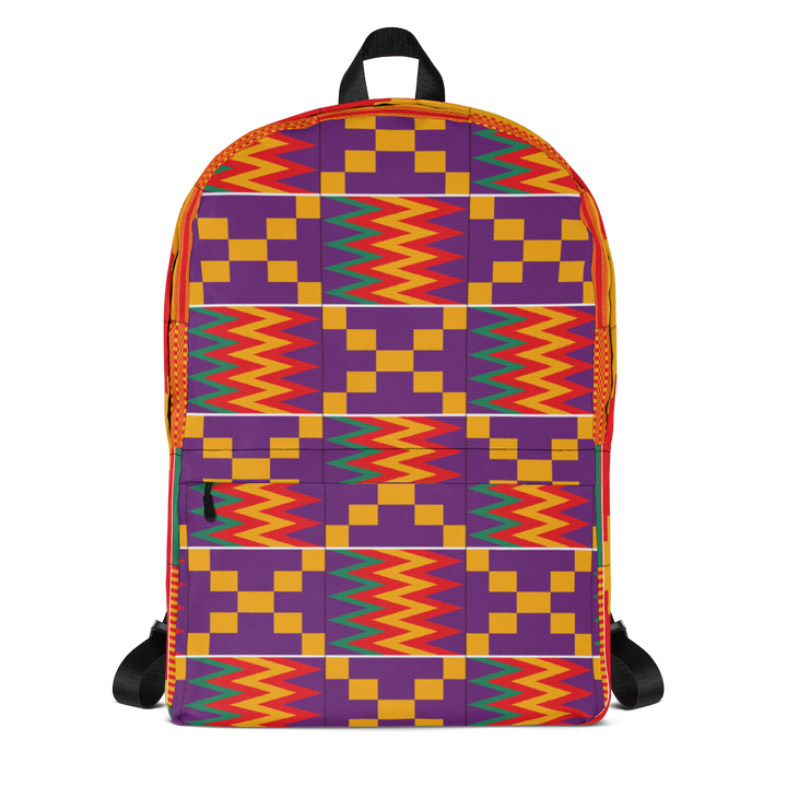 Asante Kente Print 'Aduonu num' — Backpack