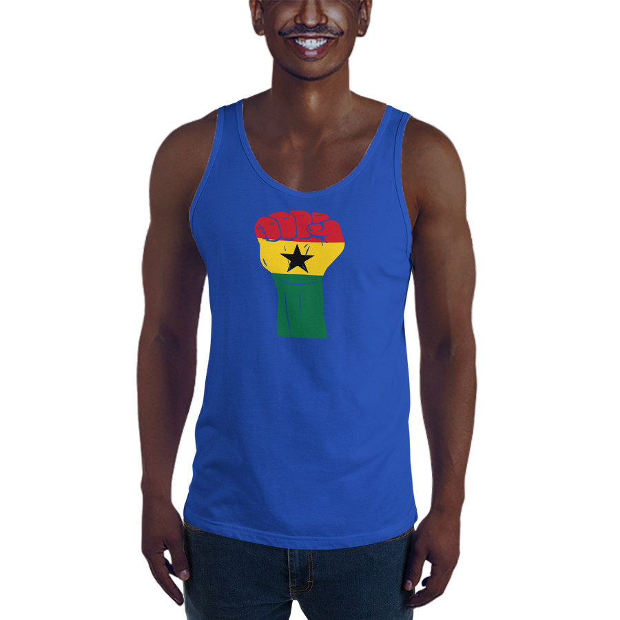 RAISED FIST 'GHANA' — Men's Premium Tank Top