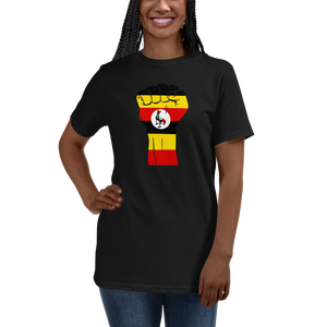 RAISED FIST 'UGANDA' — Women's Organic T-shirt
