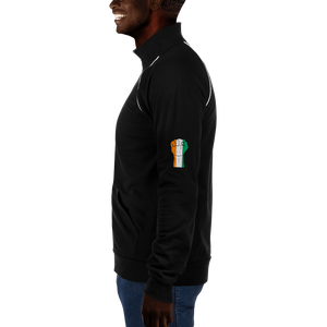 RAISED FIST 'CÔTE D'IVOIRE' — Men's Piped Fleece Jacket