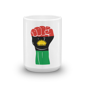 RAISED FIST 'BIAFRA' — Coffee Mug