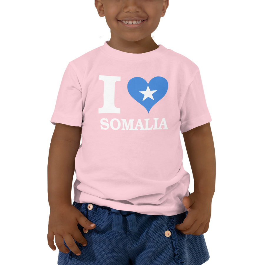 I ❤ SOMALIA (WHITE) — Short-sleeved Toddler T-shirt