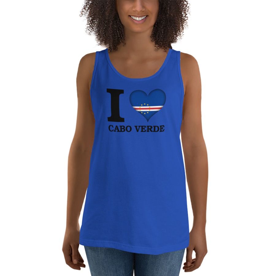 I ❤ CABO VERDE (BLACK) — Women's Premium Tank Top