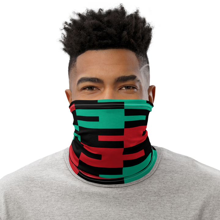 ASANTE KENTE 'AFA' (black) — Neck Gaiter