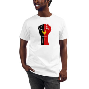 RAISED FIST 'BAMILEKE' — Men's Organic T-shirt