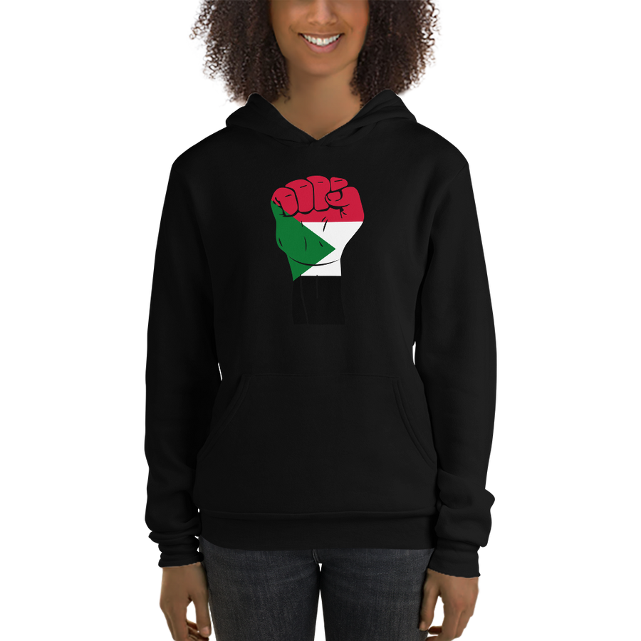 RAISED FIST 'SUDAN' — Women's Pullover Hoodie
