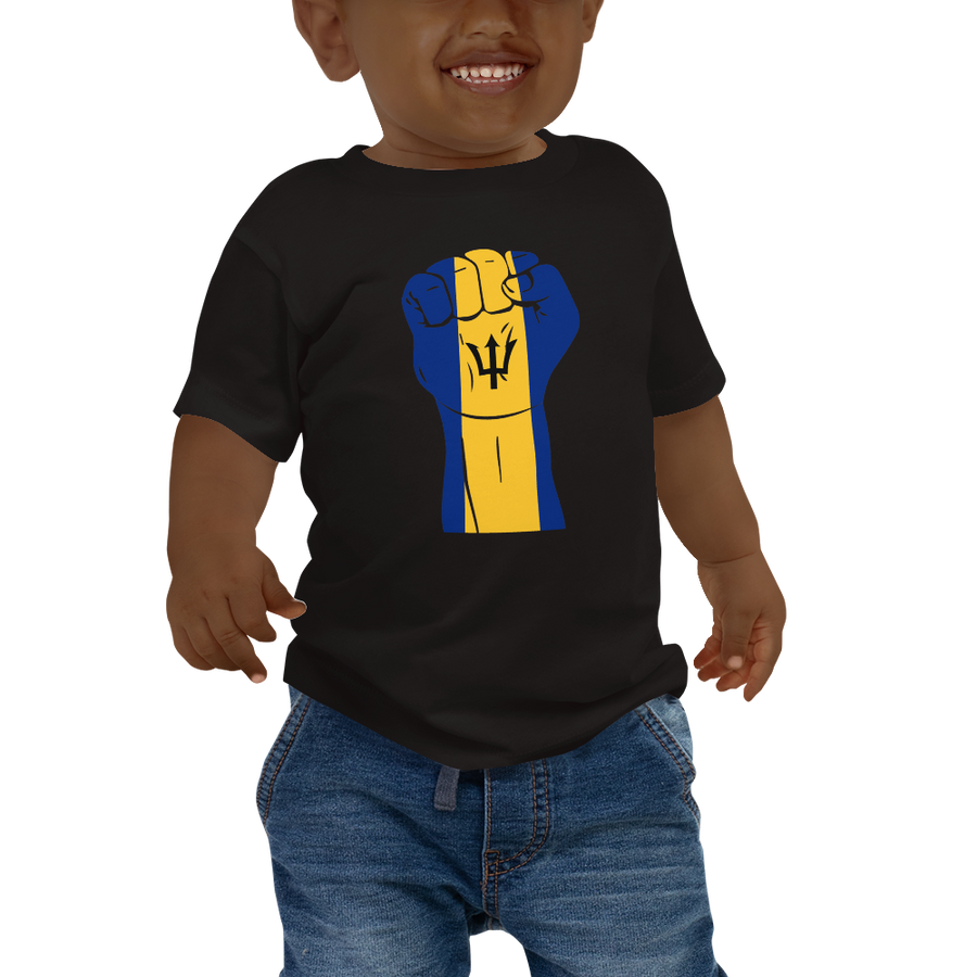 RAISED FIST 'BARBADOS' — Short-sleeved Baby T-shirt