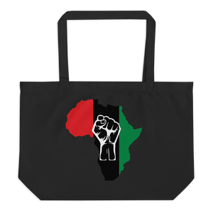 RAISED FIST 'AFRICA' (UNIA/WHITE) — Organic Tote Bag