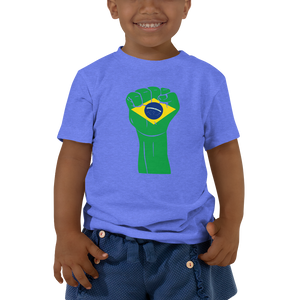 RAISED FIST 'BRAZIL' — Short-sleeved Toddler T-shirt