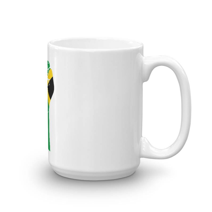RAISED FIST 'JAMAICA' — Coffee Mug
