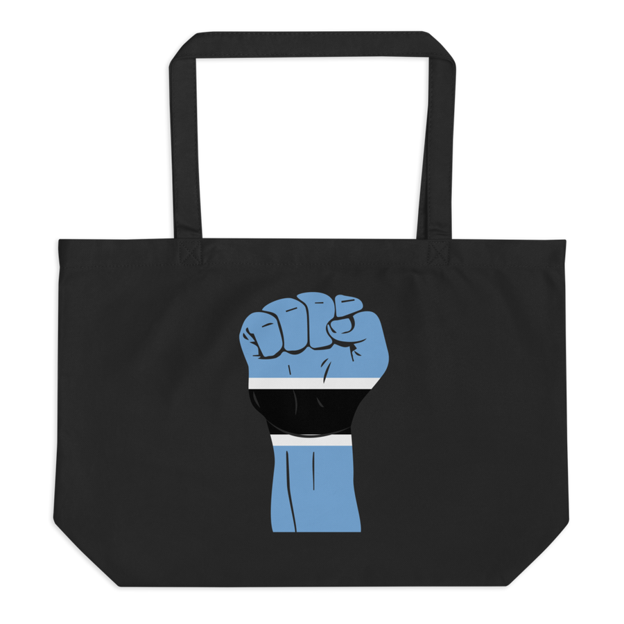 RAISED FIST 'BOTSWANA' — Organic Tote Bag