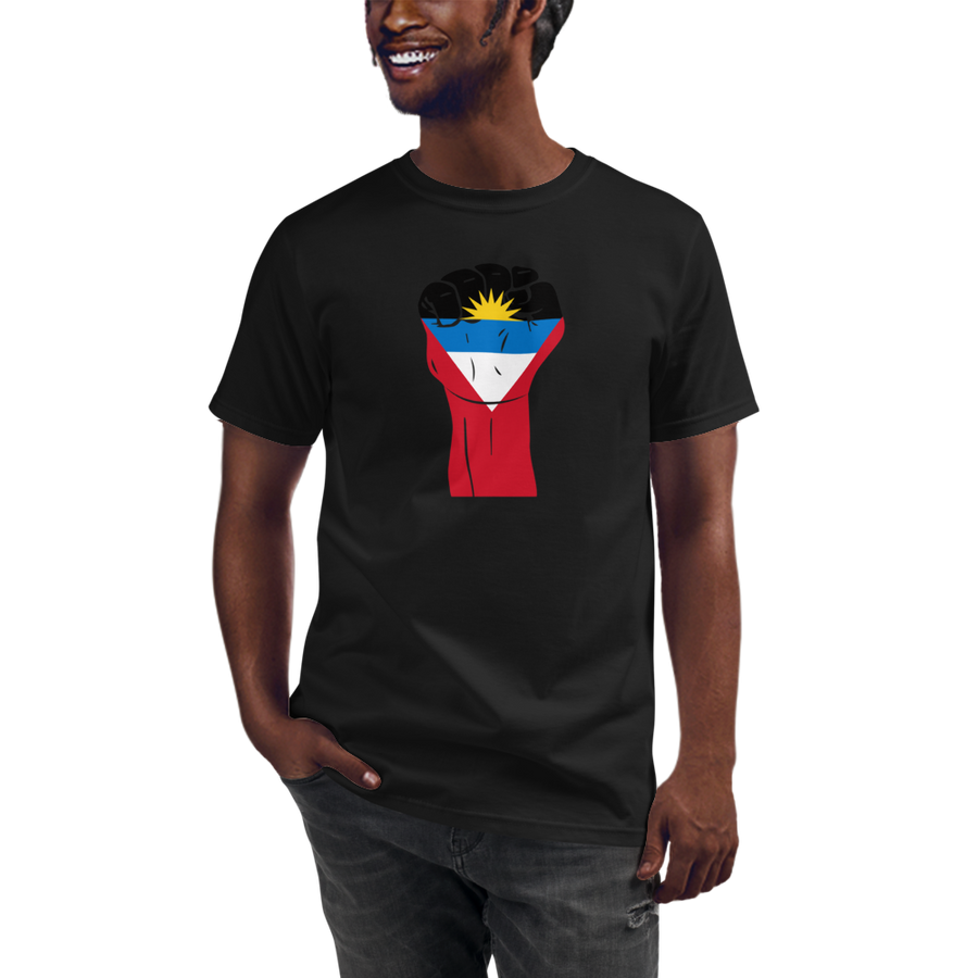 RAISED FIST 'ANTIGUA AND BARBUDA' — Men's Organic T-shirt