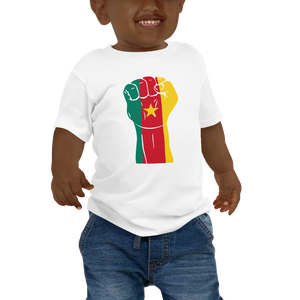 RAISED FIST 'CAMEROON' — Short-sleeved Baby T-shirt