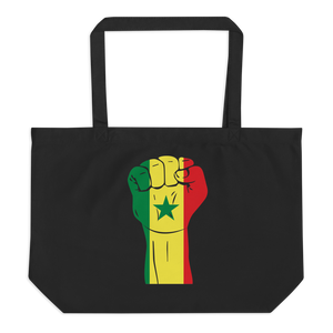 RAISED FIST 'SENEGAL' — Organic Tote Bag