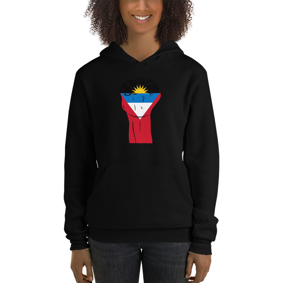 RAISED FIST 'ANTIGUA AND BARBUDA' — Women's Pullover Hoodie