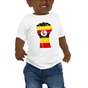 RAISED FIST 'UGANDA' — Short-sleeved Baby T-shirt