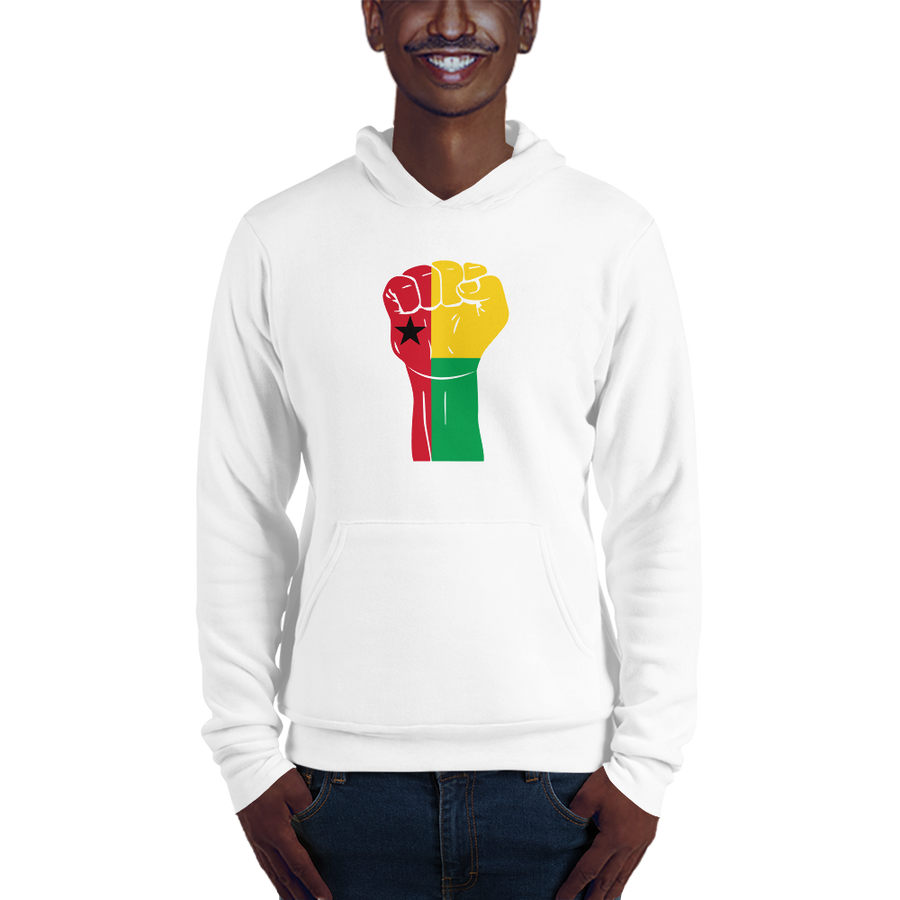 RAISED FIST 'GUINEA-BISSAU' — Men's Pullover Hoodie