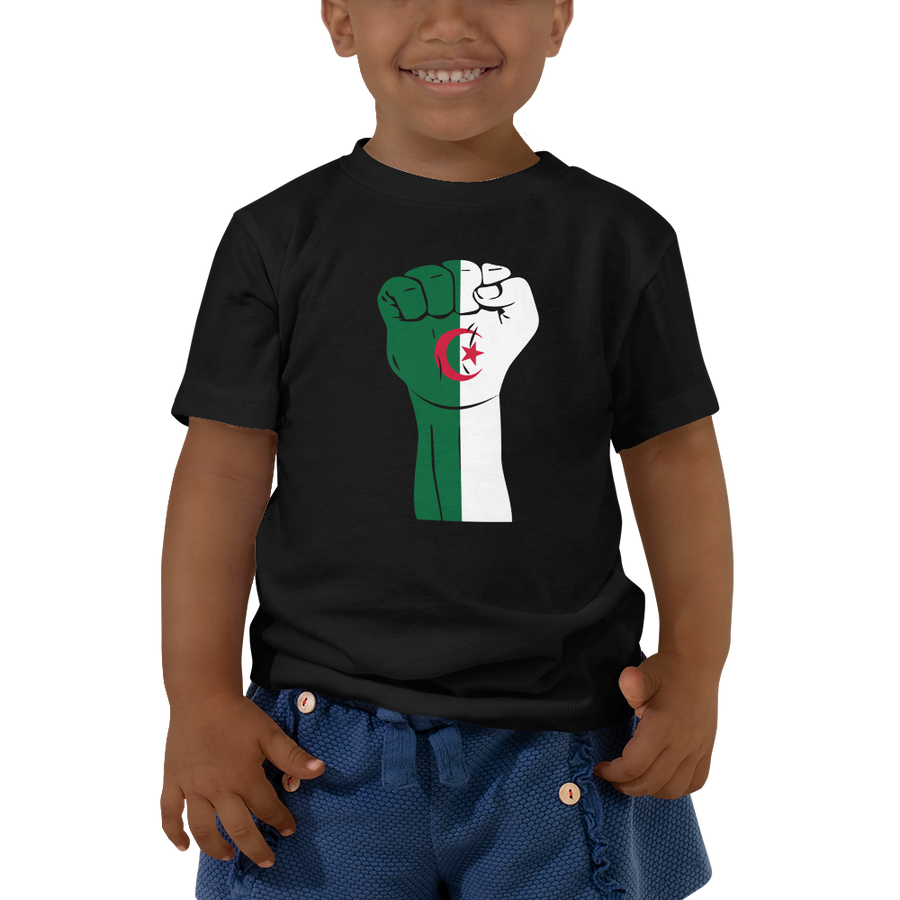 RAISED FIST 'ALGERIA' — Short-sleeved Toddler T-shirt