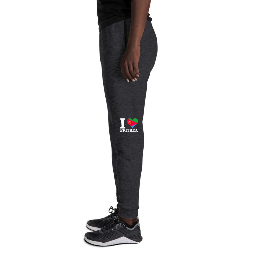 I ❤ ERITREA (WHITE) — Women's Sweatpants
