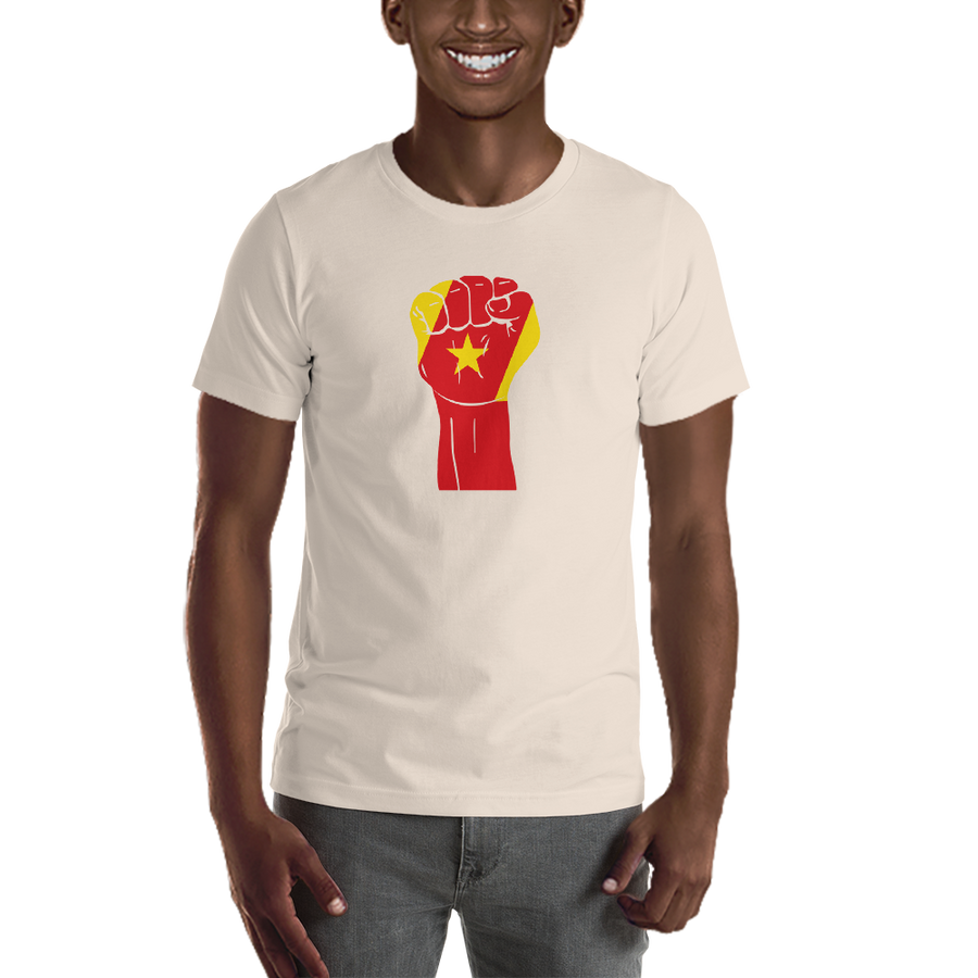 RAISED FIST 'AMHARA' — Men's Premium T-shirt