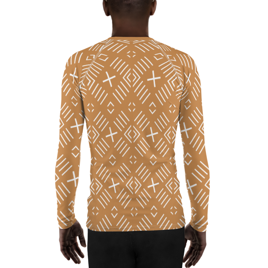 BÒGÒLANFINI 'FILA' (SAND/WHITE) — Hand-sewn Men's Rash Guard