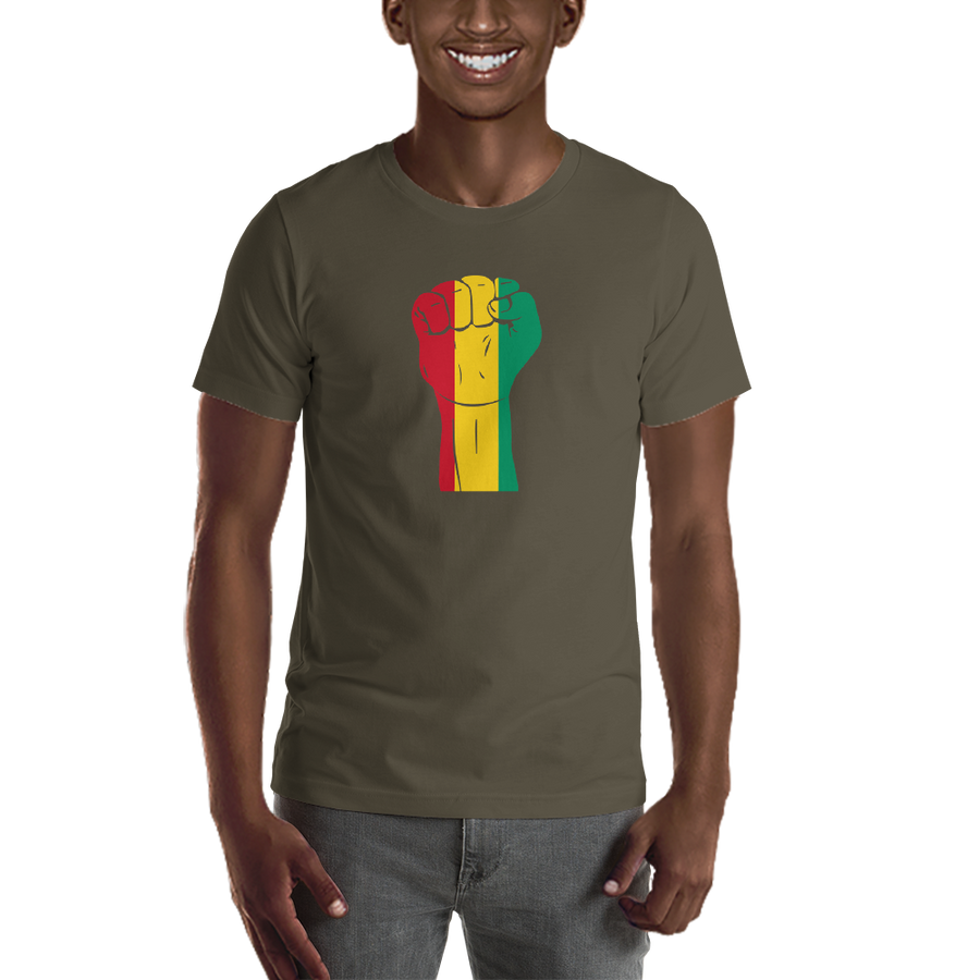 RAISED FIST 'GUINEA' — Men's Premium T-shirt