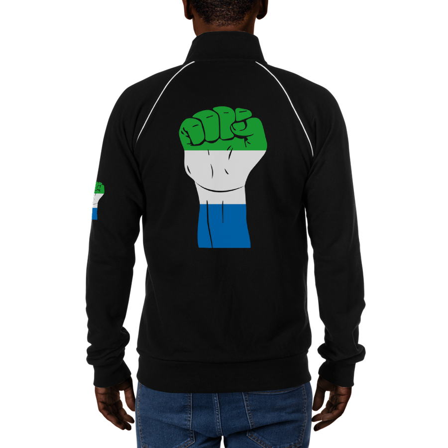 RAISED FIST 'SIERRA LEONE' — Men's Piped Fleece Jacket