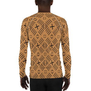 BÒGÒLANFINI 'FILA' (SAND/BLACK) — Hand-sewn Men's Rash Guard