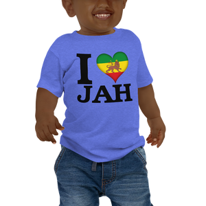 I ❤ JAH (RASTA/BLACK) — Short-sleeved Baby T-shirt