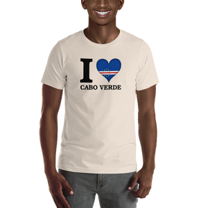 I ❤ CABO VERDE (BLACK) — Men's Premium T-shirt