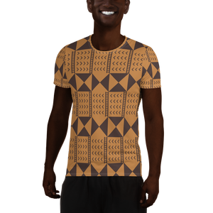 BÒGÒLANFINI 'WÓLONWULA' (SAND/COCOA) — Hand-sewn Men's Athletic T-shirt
