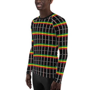 ASA-OKE (BLACK/RASTA) — Hand-sewn Men's Rash Guard