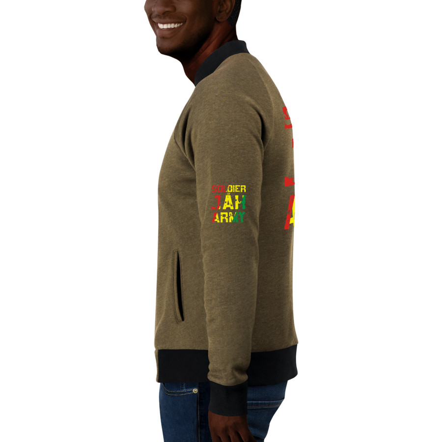SOLDIER OF JAH ARMY (RASTA) — Men's Bomber Jacket