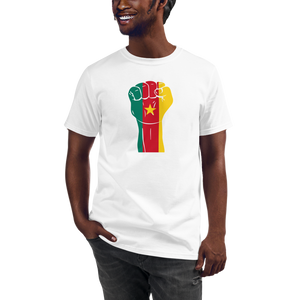 RAISED FIST 'CAMEROON' — Men's Organic T-shirt