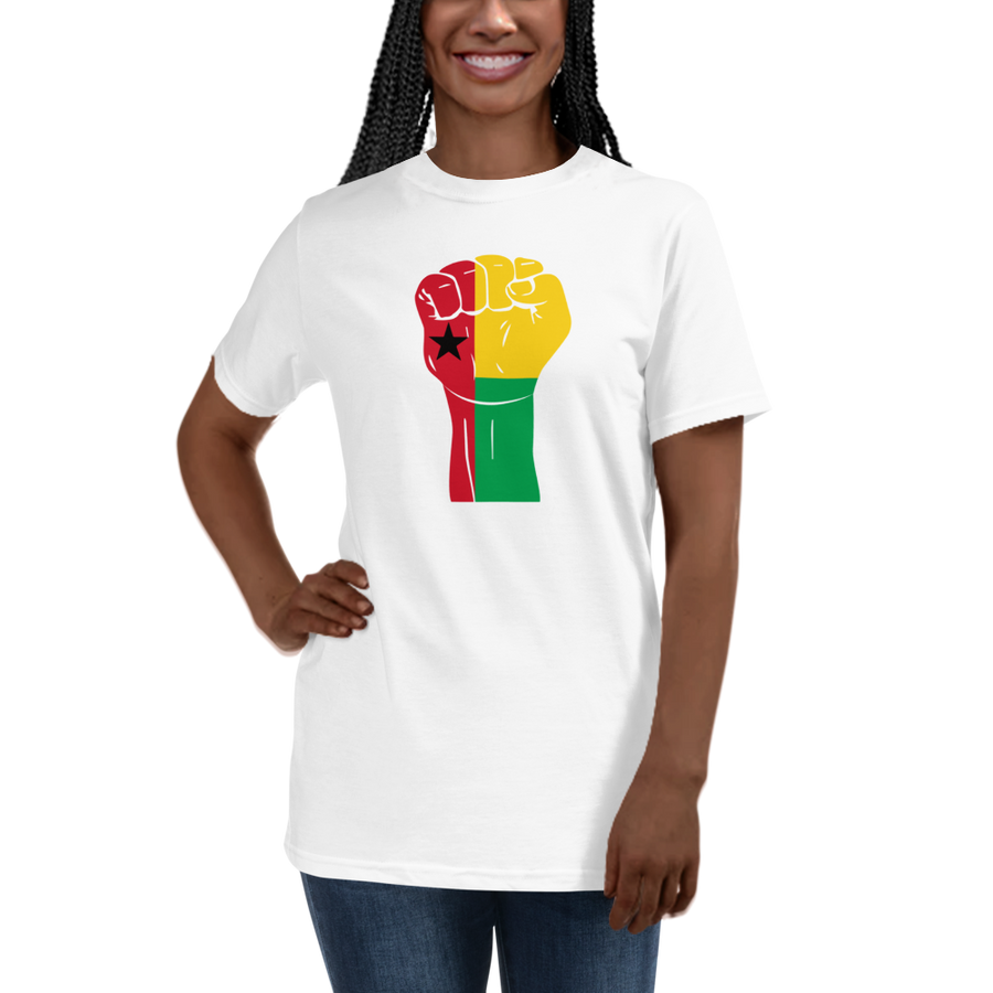 RAISED FIST 'GUINEA-BISSAU' — Women's Organic T-shirt