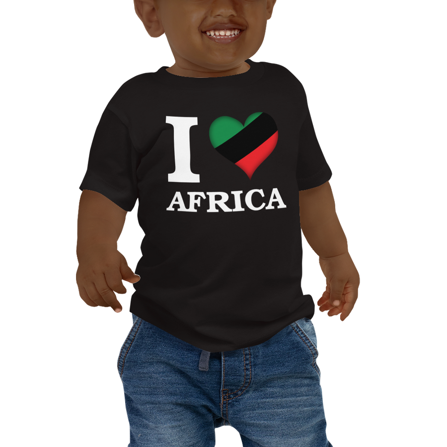 I ❤ AFRICA (UNIA/WHITE) — Short-sleeved Baby T-shirt