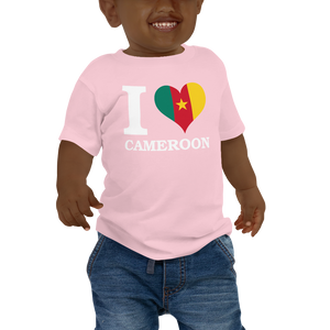 I ❤ CAMEROON (WHITE) — Short-sleeved Baby T-shirt