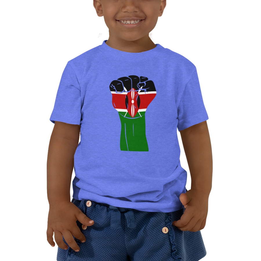 RAISED FIST 'KENYA' — Short-sleeved Toddler T-shirt