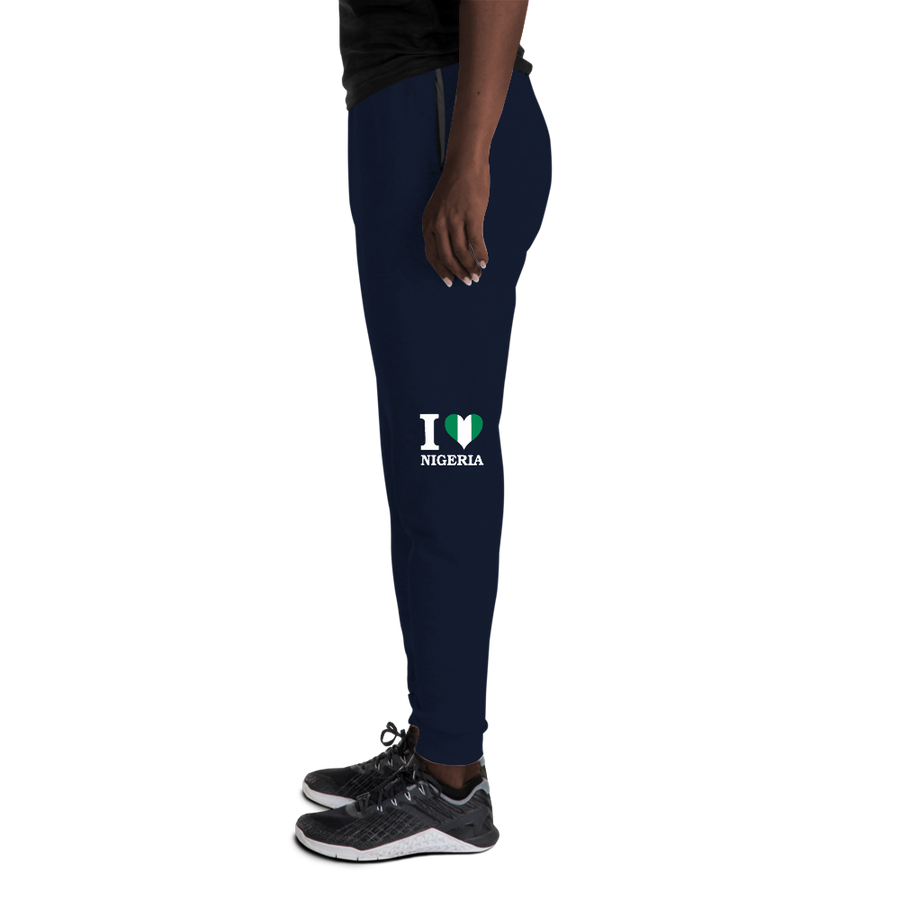 I ❤ NIGERIA (WHITE) — Women's Sweatpants