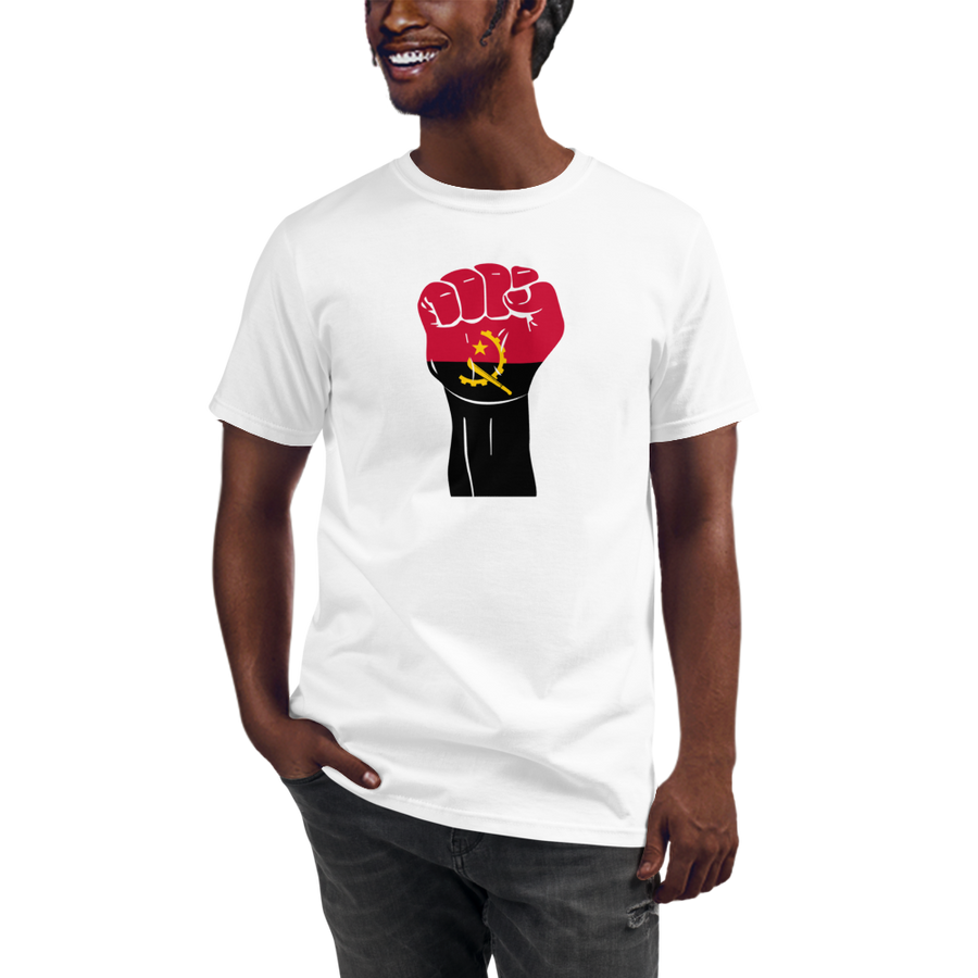 RAISED FIST 'ANGOLA' — Men's Organic T-shirt